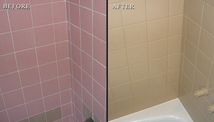 Reglazing bathroom tile